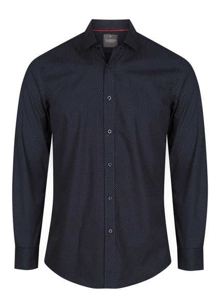 Picture of Mens Long Sleeve Dot Print Shirt